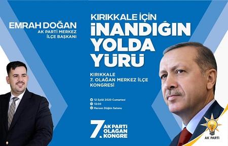 Kırıkkale, Merkez İlçe Kongresi  yapılacak