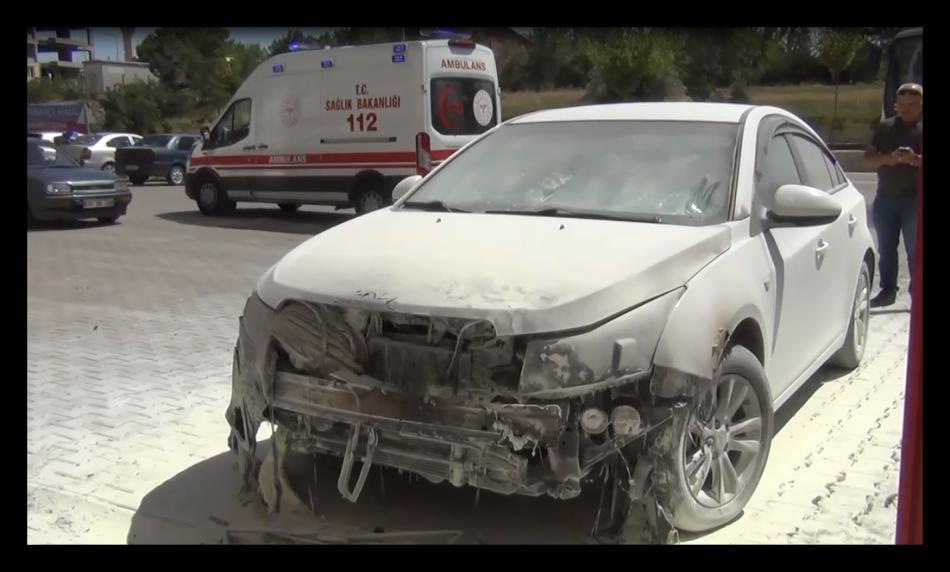 Kırıkkale'de park halindeki otomobilde yangın