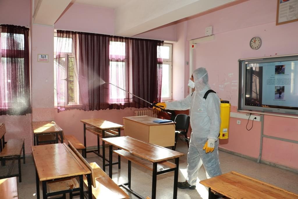 Koronavirüse karşı dezenfeksiyon yapılıyor