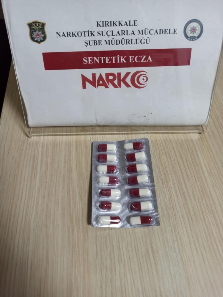 Kırıkkale'de, madde ticareti yapan kişi tutuklandı