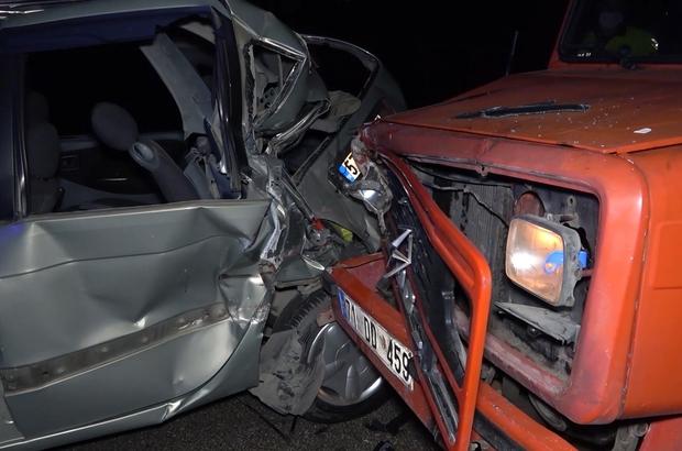 Kırıkkale'de, feci kaza