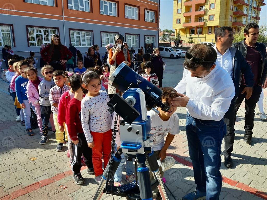 Kırıkkale'de, astronomi eğitimi verildi