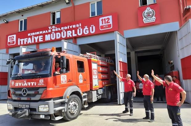 Orman yangınına  Kırıkkale Belediyesi'nden destek