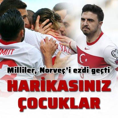 Norveç 0 Türkiye 3 Maç Sonucu
