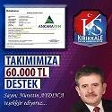 Nurettin Aydın'dan Kırıkkalespor'a 60 Bin TL