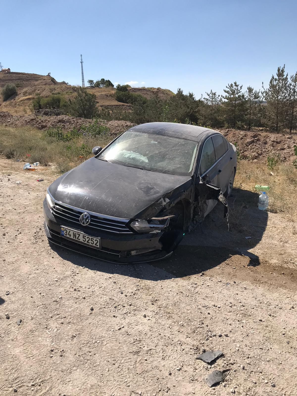 Kırıkkale'de, trafik kazası geçirdi