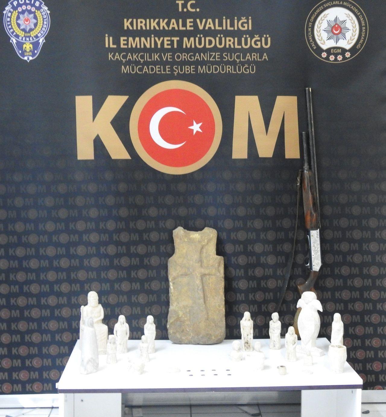 Kırıkkale'de, tarihi eser operasyonu