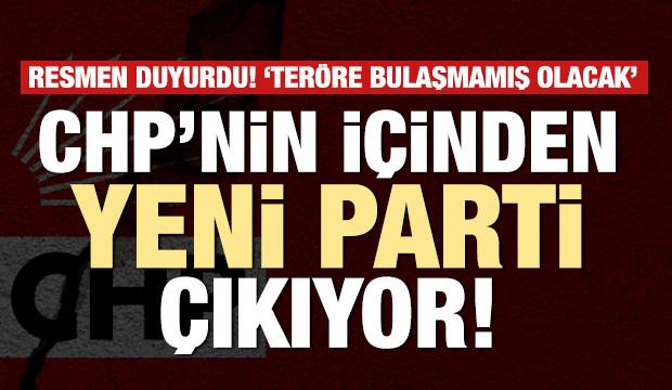 CHP'nin içinden yeni parti çıkıyor!